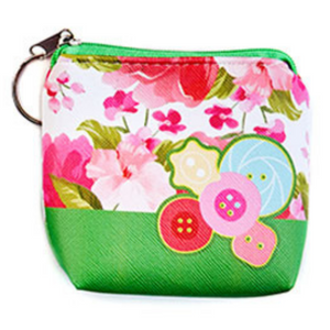 Coin Purse with Key Ring - Buttons