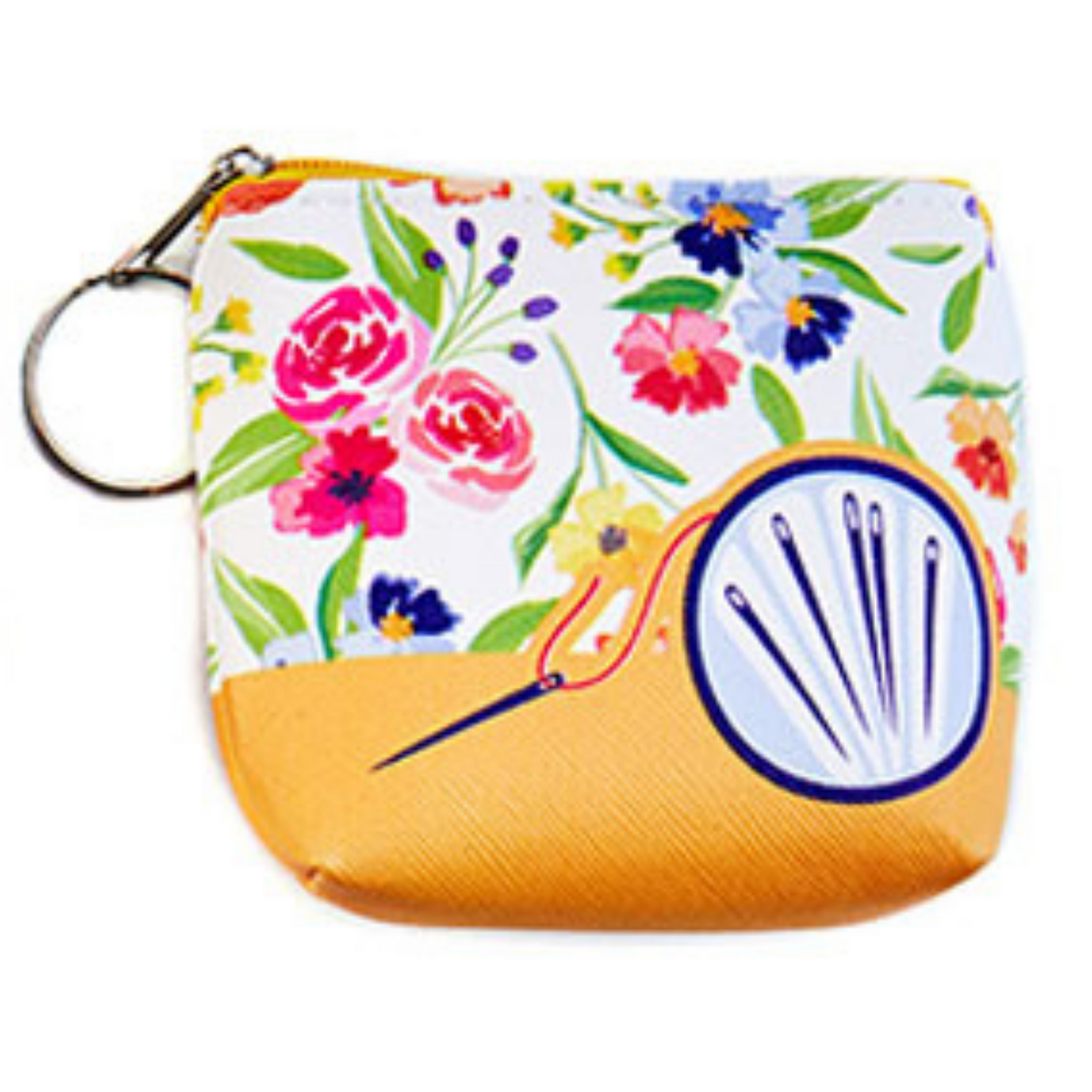 Coin Purse with Key Ring - Needles