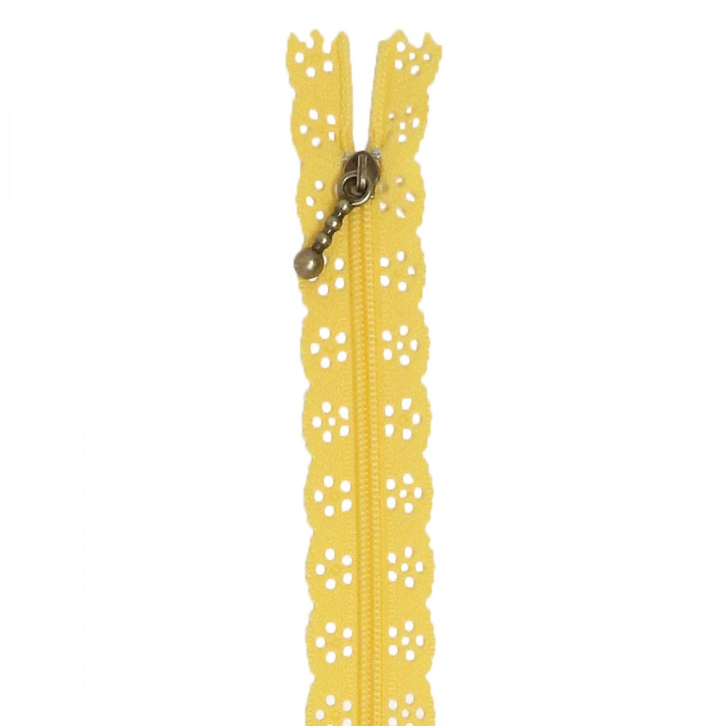 Lace Zipper - 14 Inch - Canary Yellow