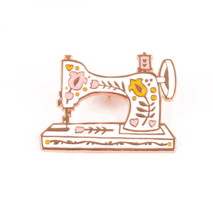 Vintage Sewing Machine Enamel Pin by Maker Valley
