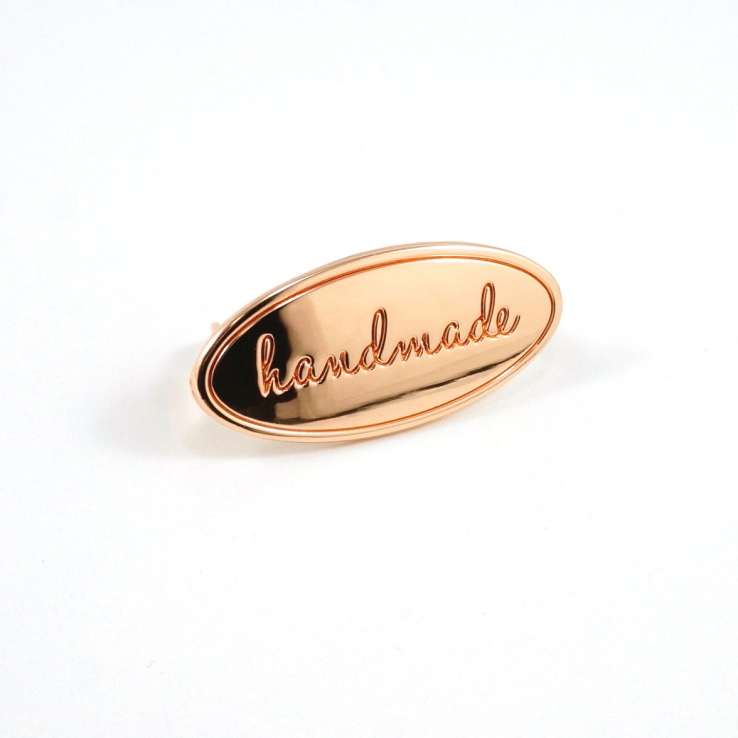 Metal Bag Label - Oval - Handmade in Copper