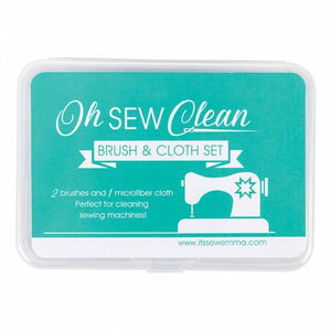 Oh Sew Clean Brush & Cloth Set - Aqua