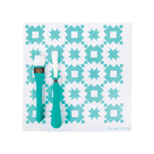 Load image into Gallery viewer, Oh Sew Clean Brush & Cloth Set - Aqua