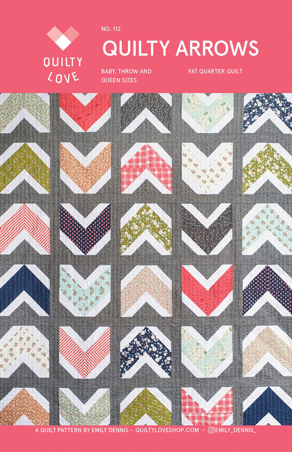 Quilty Arrows by Emily Dennis of Quilty Love - PAPER Pattern