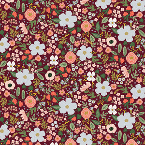 Garden Party - Wild Rose in Burgundy (Metallic)