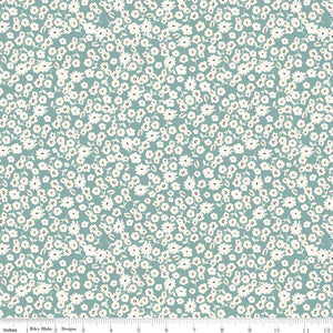 Gingham Gardens - Blossoms Teal
