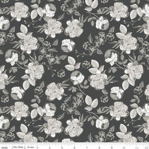 Gingham Gardens - Lined Floral Charcoal
