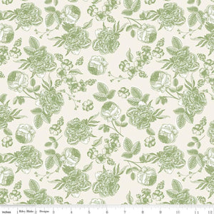 Gingham Gardens - Lined Floral Green