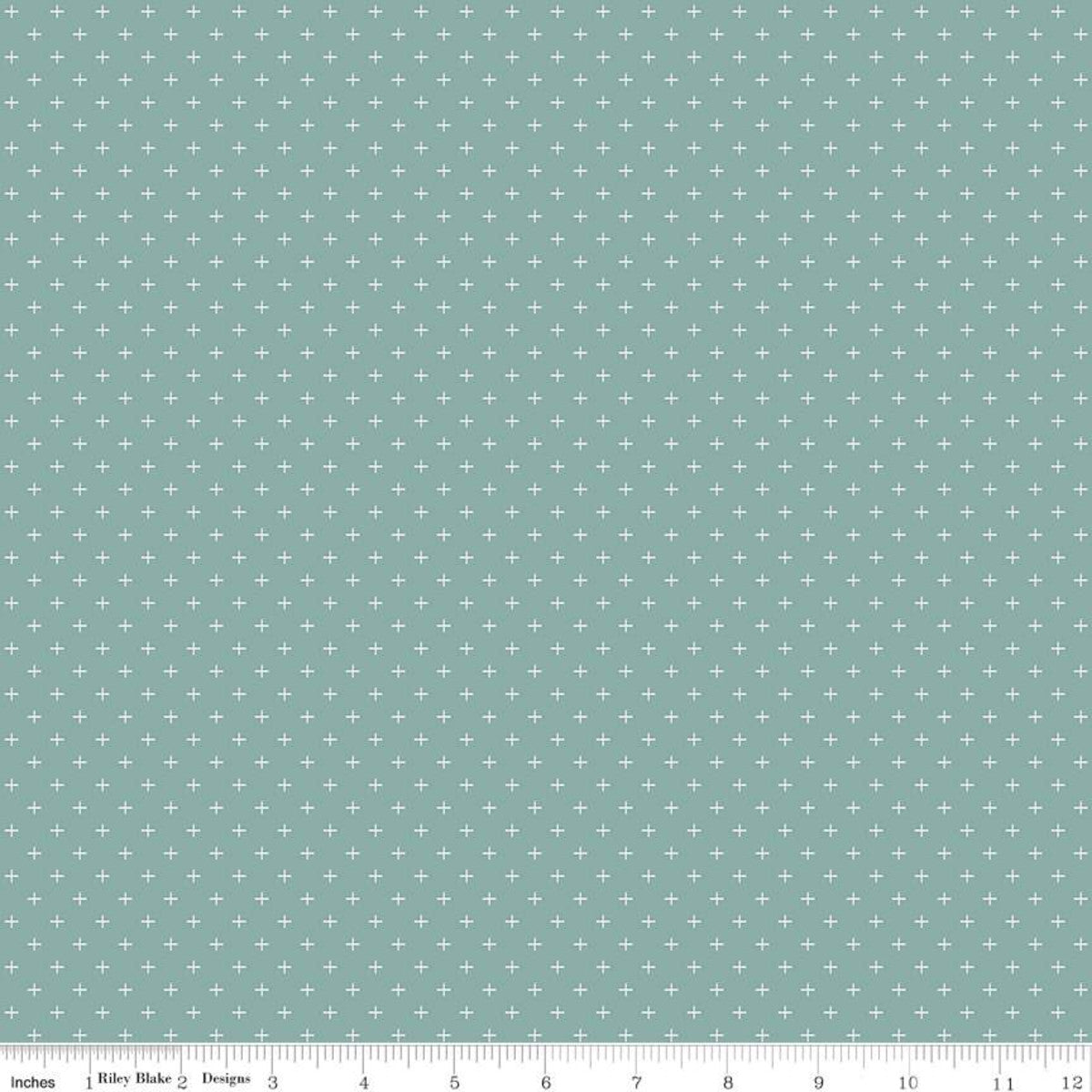Gingham Gardens - Plus Teal