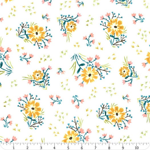 Bungalow - Large Floral White