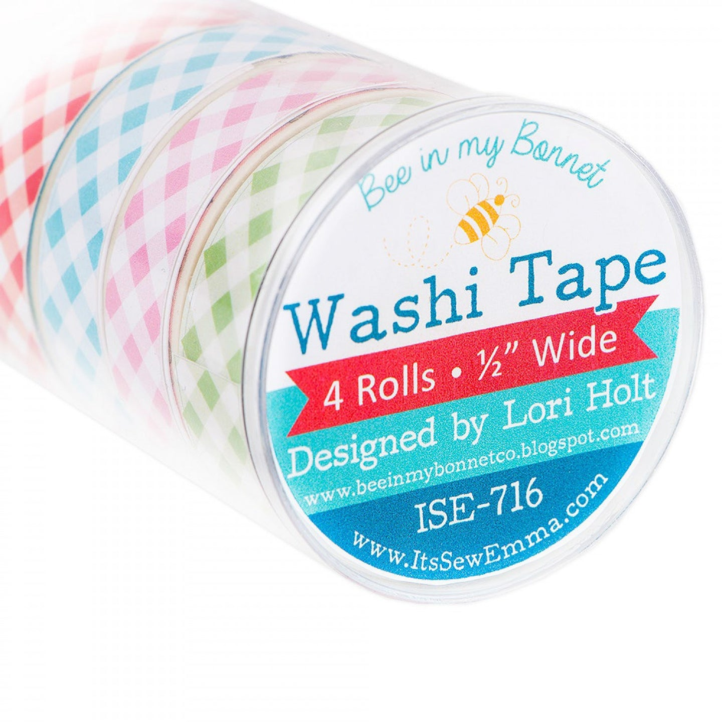 Gingham Washi Tape - Set of 4