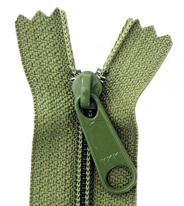 "14"" Handbag Zipper - Olive"