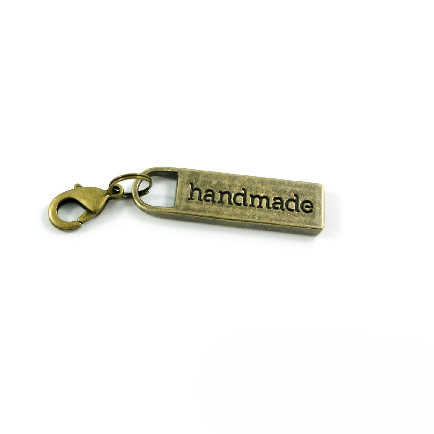 Zipper Pull - Handmade in Antique Brass