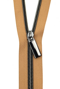Zippers by the Yard - Natural Tape with Gunmetal Teeth