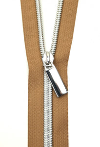Zippers by the Yard - Natural Tape with Nickel Teeth