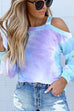 Kyledress Tie Dye Off Shoulder Casual T-shirt