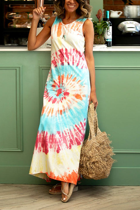 Kyledress Sunflower Tie Dye Maxi Dress