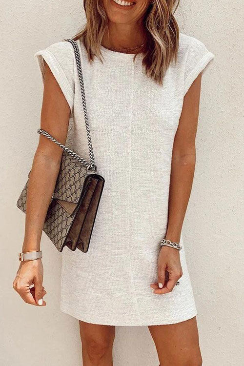 Kyledress Cute Sleeves Solid T-shirt Dress