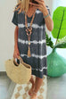 Kyledress Hope Tie Dye Casual Loose Midi Dress