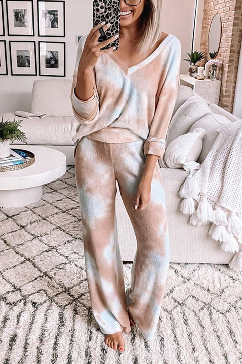 Kyledress Tina Tie Dye Casual Home Suit Two Pieces