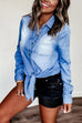 Kyledress Cowgirls Casual Denim Top Shirt