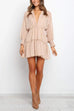 Kyledress Stand Collar Chiffon Lace Patchwork Mini Dress(with tank top£©