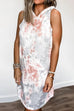 Kyledress Tie Dye Sleeveless Causal Hoodie Mini Dress