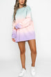 Kyledress Unicorn Color Tie Dye Shirt Dress