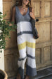 Kyledress Moka O Neck Tie Dye Jumpsuits