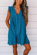 Kyledress V-neck Ruffle Sleeve Versatile Mini Dress