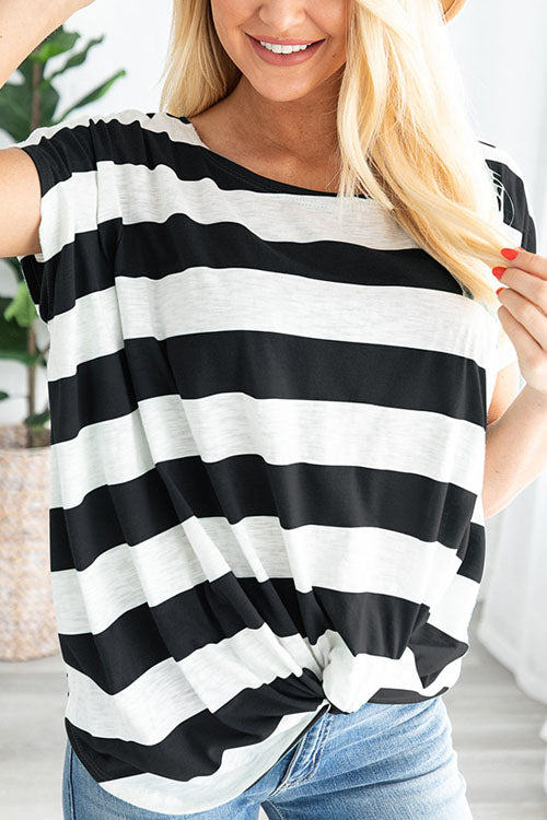 Kyledress Striped Loose Casual T-Shirt Top
