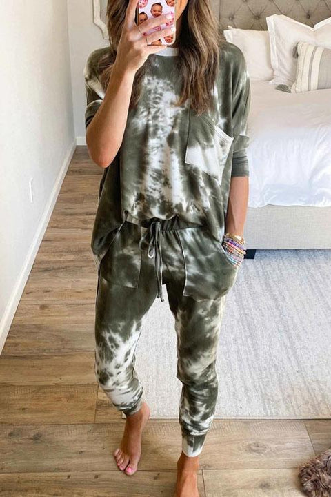 Kyledress Tie Dye Jog Casual Two Pieces