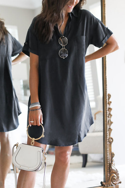 Kyledress Libby Solid Casual Loose Mini Dress