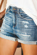 Kyledress Coco Mid Waist Jeans Denim Shorts