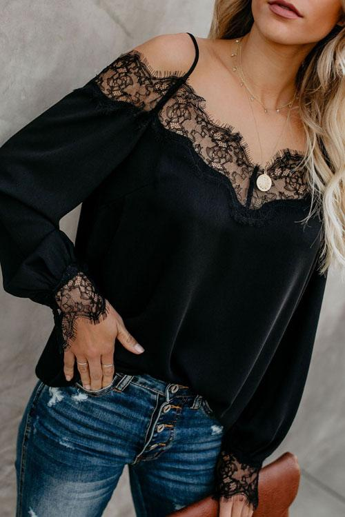 Kyledress Fifty Shades of Lace Casual Blouse Top