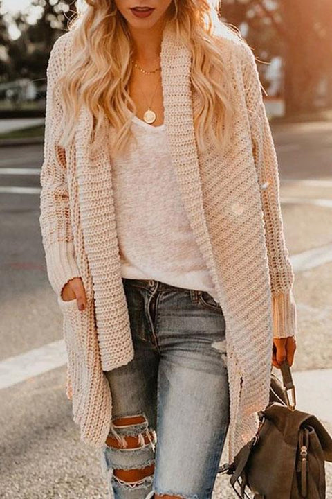 Kyledress Big Lapel Pockets Sweaters Cardigan