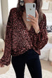 Kyledress Deep V Neck Knot Sequin Shirt