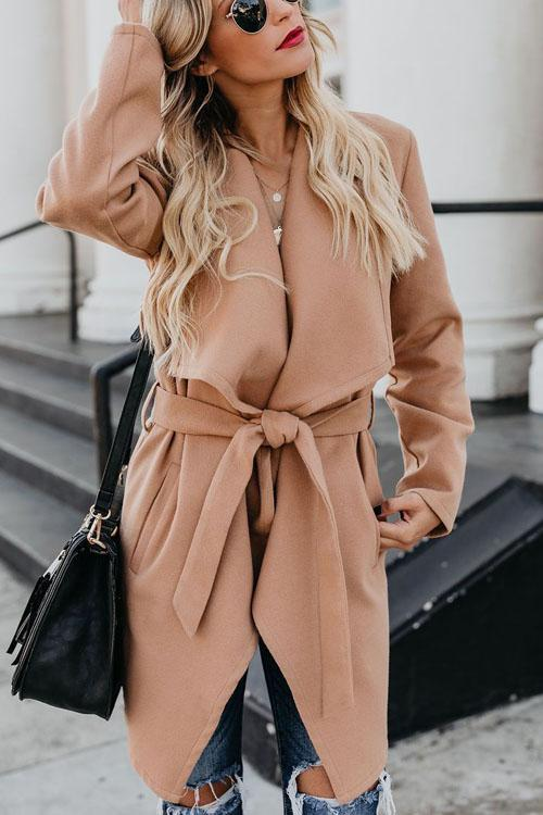 Kyledress Easy Matching Woolen Long Overcoat
