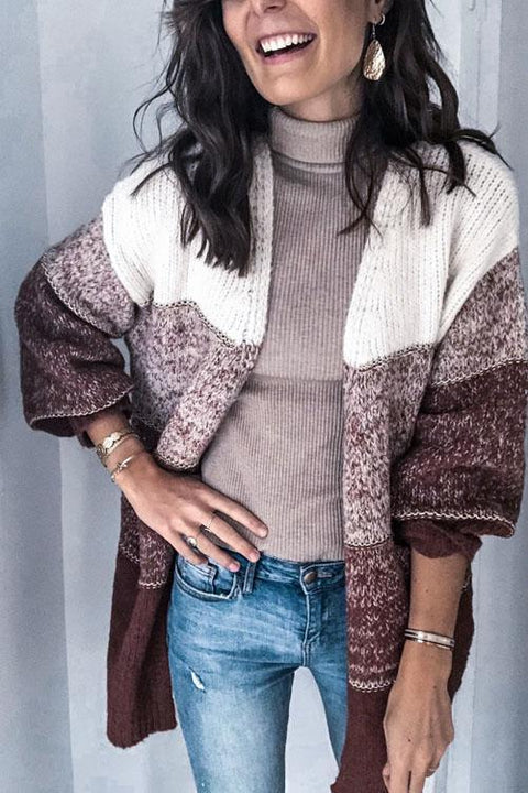 Kyledress Gradient Color Sweaters Cardigan