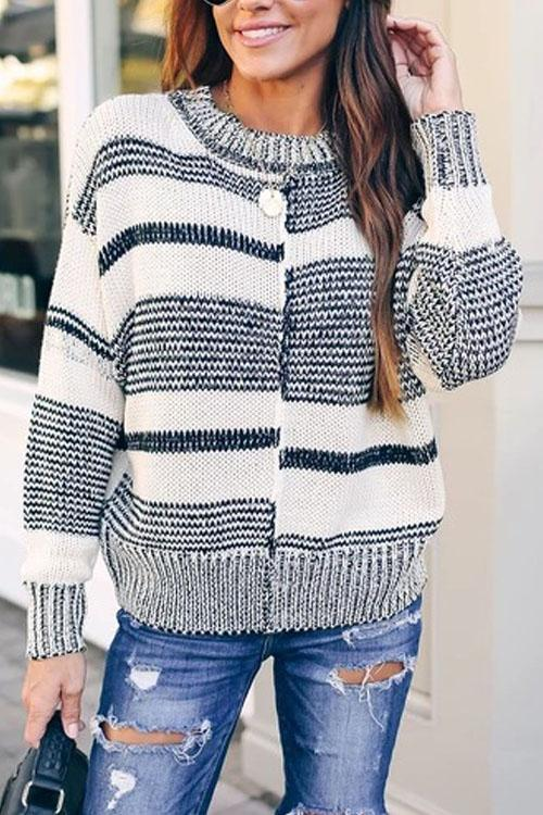 Kyledress Malposition Striped Top Sweater