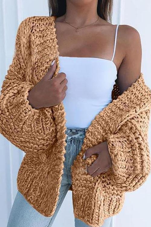 Kyledress  Hemp Leisure Sweaters Cardigan
