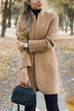 Kyledress  Fashion Solid Color Collar Wool Coat
