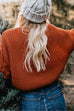Kyledress Loose Puff Sleeve Knit Sweater