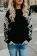 Kyledress Sequined Sleeves Casual Sweatshirt