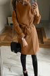 Kyledress  Lapel Collar Super Thick Wool Solid Warm Coat