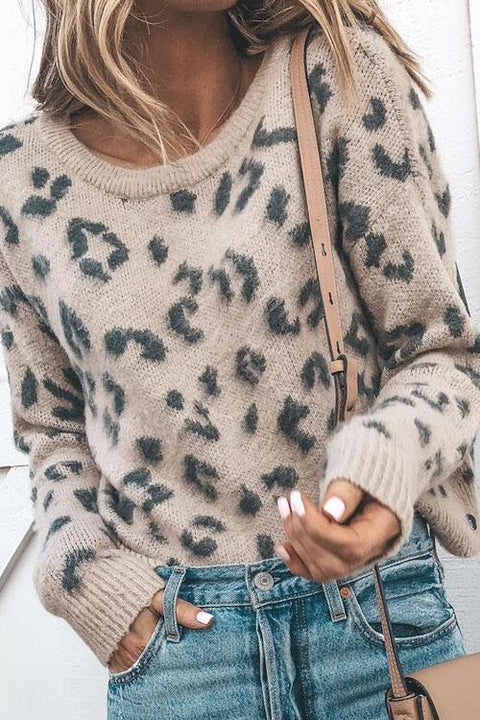 Kyledress  Chic Leopard Print Sweater