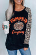 Kyledress Pumpkin Everything Leopard T-shirt Top