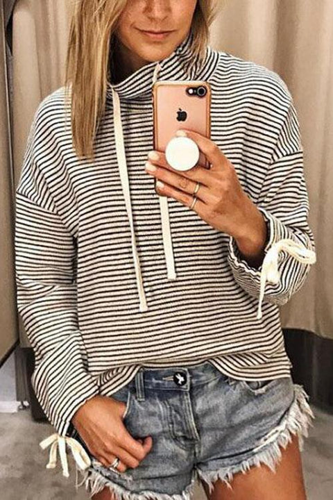Kyledress Bodhi Striped Casual Hoodie Pullover