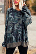 Kyledress Camo Casual Loose Hoodie Top