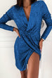 Kyledress Shake It Sequins Wrap Mini Dress